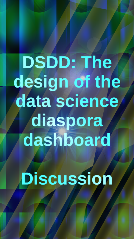 The design of the data science diaspora dashboard